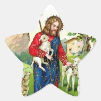 Christ The Shepherd Star Sticker