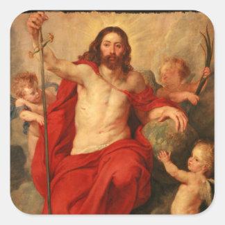 Christ Triumph Over Sin and Death Square Sticker