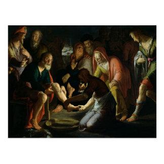 Christ Washing the Disciples' Feet, 1623 Postcard