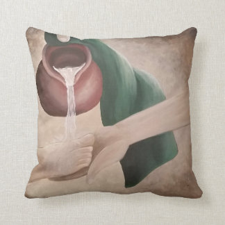 Christ Washing the Disciple's Feet Throw Pillow