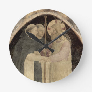 Christ Welcomes Two Dominican Friars, (fresco) (de Clock