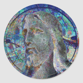Christ With Halo Stained Glass Sticker