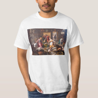 Christ with Martha and Mary by Joos Goemare T-Shirt