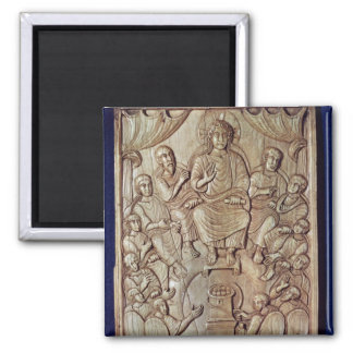 Christ with the Twelve Apostles Square Magnet