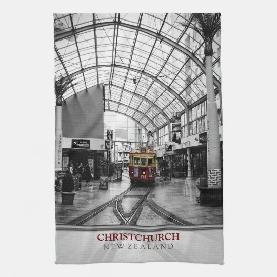 Christchurch New Zealand Tram Tea Towel