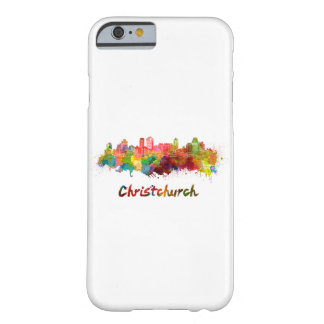 Christchurch skyline in watercolor barely there iPhone 6 case