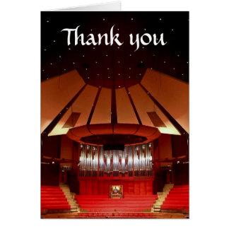 Christchurch town hall thank you card