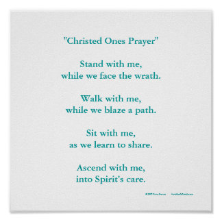 """Christed Ones Prayer"" Poster"