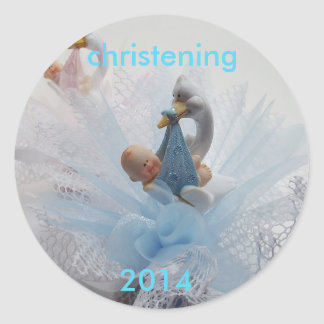 christening 2014 Sticker-Customise Round Sticker