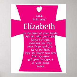 Christening Gift- Personalized Prayer Poster GIRL