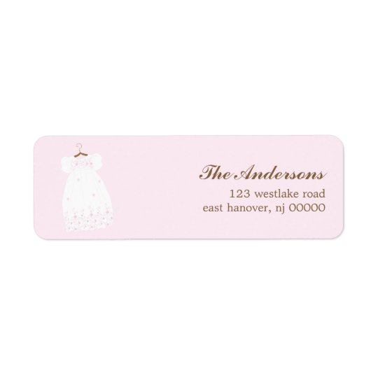 Christening Gown Baptism Labels