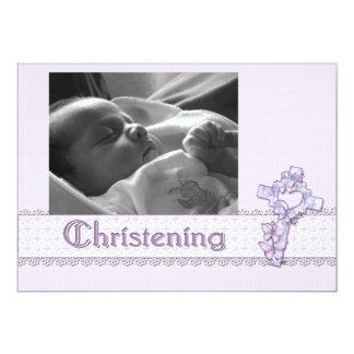 Christening Lavender Invitation