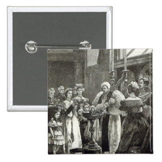 Christening of the Princess Louise 2 Inch Square Button