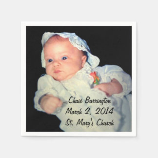 Christening the Baby Special Photo Paper Napkin
