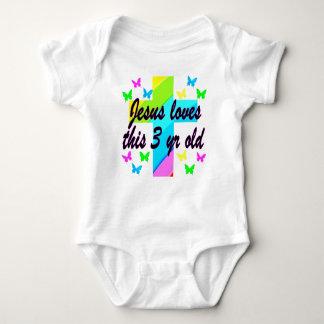 CHRISTIAN 3 YR OLD BIRTHDAY PRAYER DESIGN BABY BODYSUIT