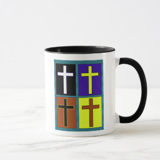Christian 4 Cross Design Combo Coffee Mug