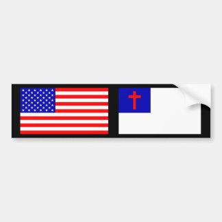 Christian American Bumper Sticker
