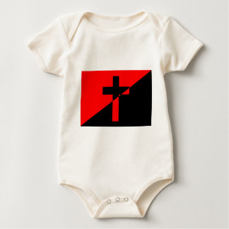 Christian Anarchist Anarchy Christianity Flag Baby Bodysuit