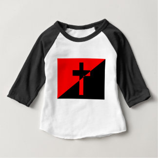Christian Anarchist Anarchy Christianity Flag Baby T-Shirt