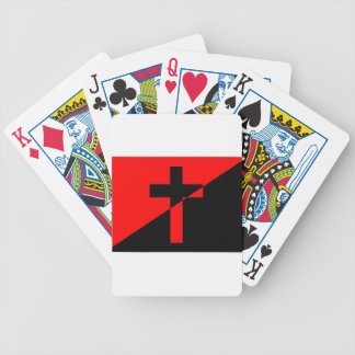 Christian Anarchist Anarchy Christianity Flag Bicycle Playing Cards