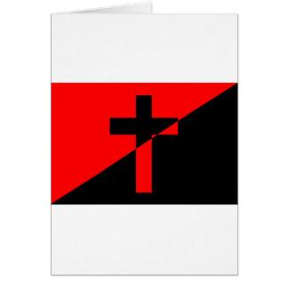Christian Anarchist Anarchy Christianity Flag Card