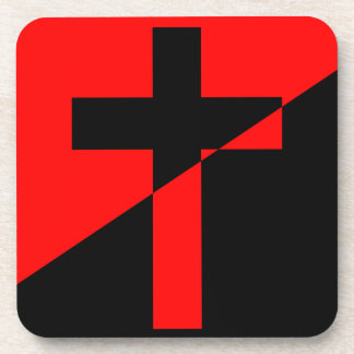 Christian Anarchist Anarchy Christianity Flag Coaster
