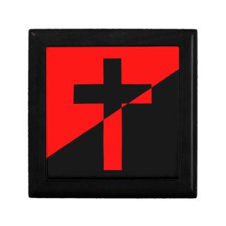 Christian Anarchist Anarchy Christianity Flag Keepsake Box