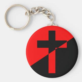Christian Anarchist Anarchy Christianity Flag Keychain