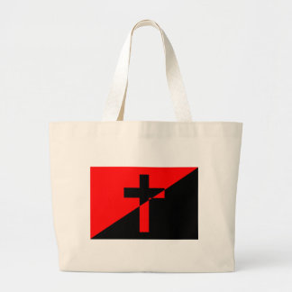 Christian Anarchist Anarchy Christianity Flag Large Tote Bag