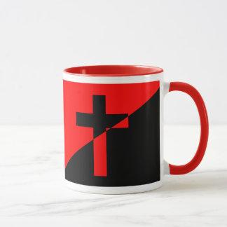 Christian Anarchist Anarchy Christianity Flag Mug