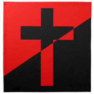 Christian Anarchist Anarchy Christianity Flag Napkin