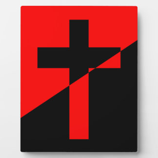 Christian Anarchist Anarchy Christianity Flag Plaque