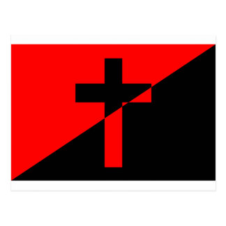 Christian Anarchist Anarchy Christianity Flag Postcard