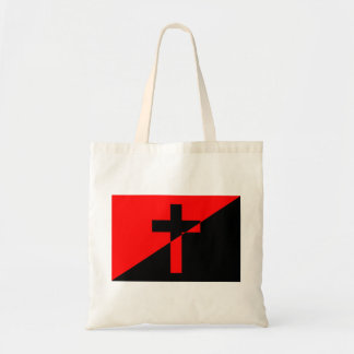Christian Anarchist Anarchy Christianity Flag Tote Bag
