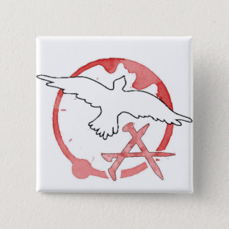 Christian Anarchy 2 Inch Square Button