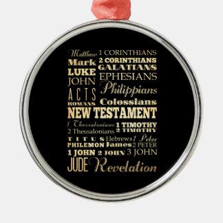 Christian Art - Books of the New Testament. Metal Ornament
