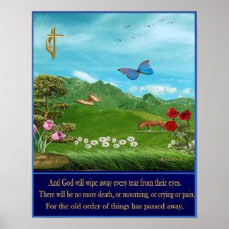 Christian art poster revelations 21:4