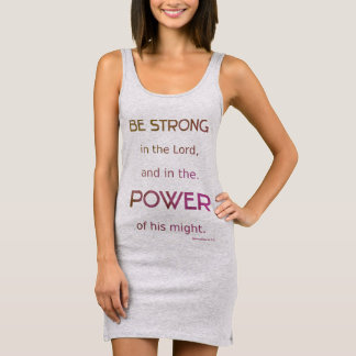 Christian Be Strong in the Lord Sleeveless Dress