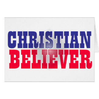 Christian Believer Religious Design Greeting Card