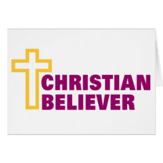Christian Believer religious gift Greeting Card