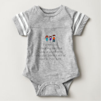 Christian,Bible Quote,Place my Family in God's han Baby Bodysuit