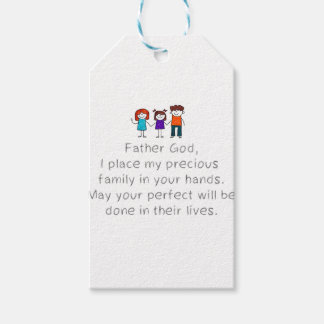 Christian,Bible Quote,Place my Family in God's han Gift Tags