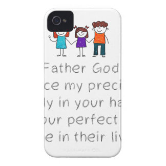 Christian,Bible Quote,Place my Family in God's han iPhone 4 Case