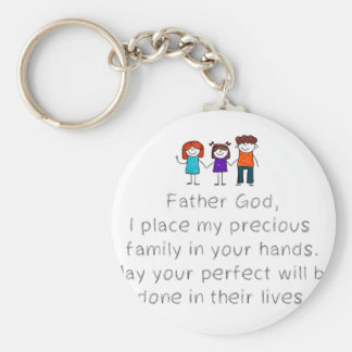 Christian,Bible Quote,Place my Family in God's han Keychain