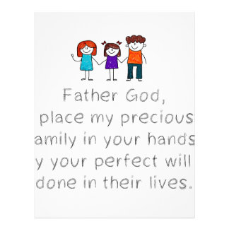 Christian,Bible Quote,Place my Family in God's han Letterhead