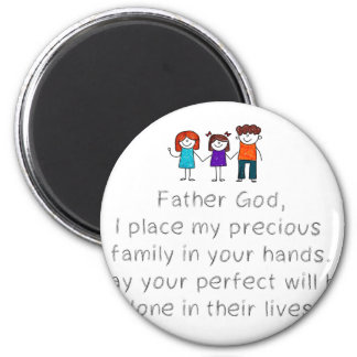 Christian,Bible Quote,Place my Family in God's han Magnet