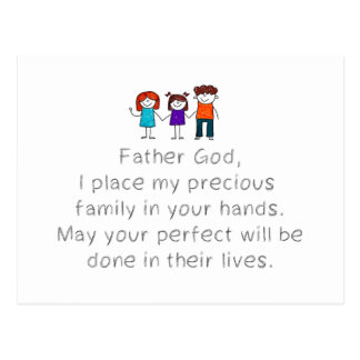 Christian,Bible Quote,Place my Family in God's han Postcard