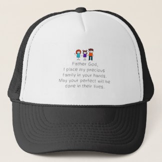 Christian,Bible Quote,Place my Family in God's han Trucker Hat