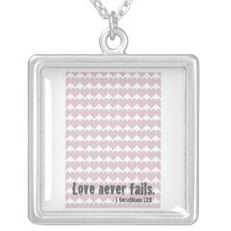 Christian Bible Verse Art Necklace - Love