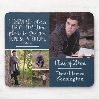 Christian Bible Verse Graduation Photo Collage Mouse Pad